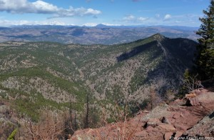View from near the Summit of Bear Peak on 4/7/13. A beautiful spring day.