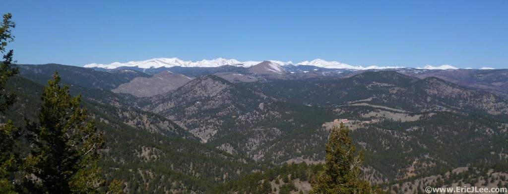 View of the Indian Peaks Wilderness from Flagstaff Mt.
