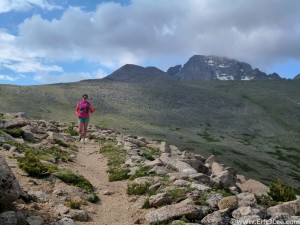 Jessie cruising down the North Longs Pk trail on the Granite Pass-Storm Pass loop. The official end to my taper.