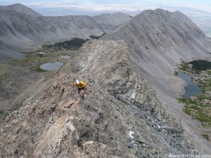 Climbing the SW Ridge of Ellingwood.