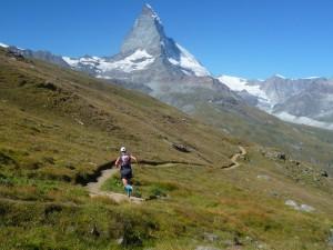 Trail running outside Zermatt, high in the Alps where I belong.