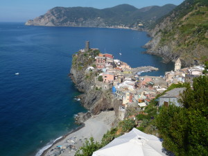 Vernazza, Cinque Terre. Surrounded by vineyards and precipitous cliffs.