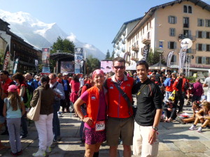 Congratulating Chris and Andrea, both finished UTMB and represented the US and Colorado well.