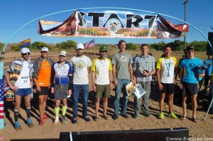 The Top 9 finishers at the 2013 Canyon de Chelly 55k.