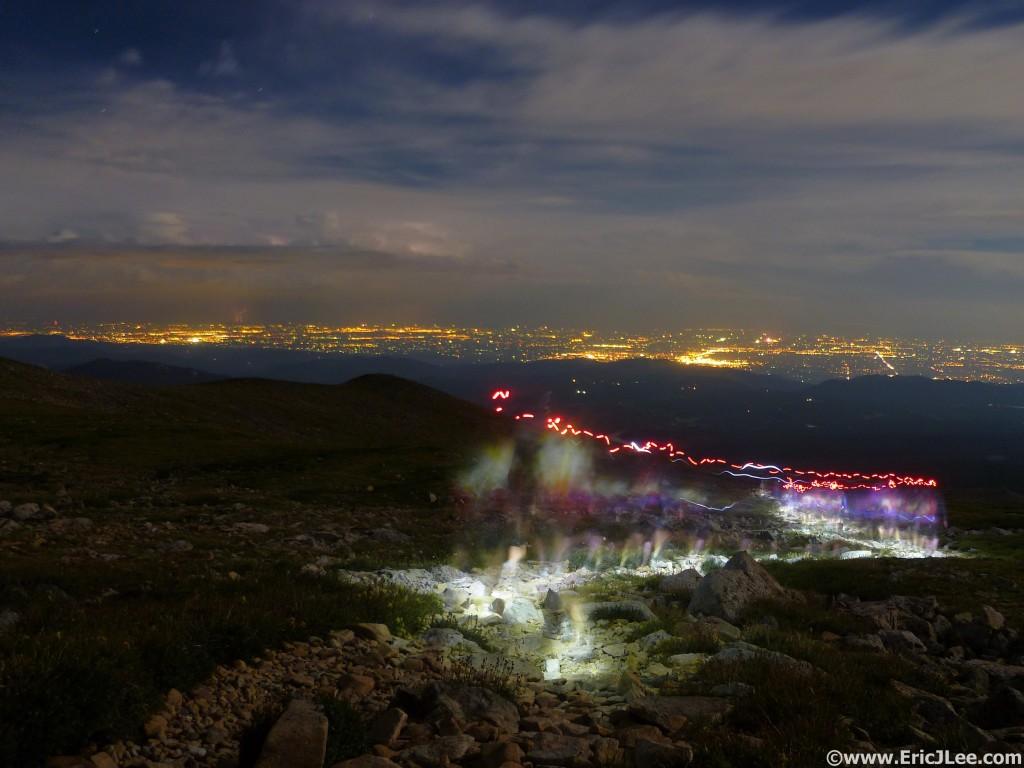 BTR group Night Run on Mt Audobon August 2012.