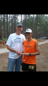 Accepting my 2nd place award at the 2014 Mississippi 50.