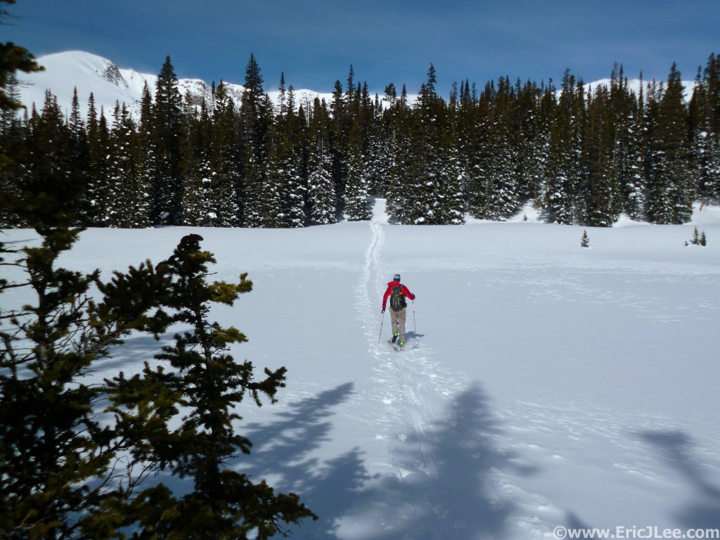 A little post-race recovery on 3/9/14, ski touring near Rollins Pass in the CO high country.