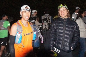 Brendan and I at the start line before the 2014 Miwok 100k.