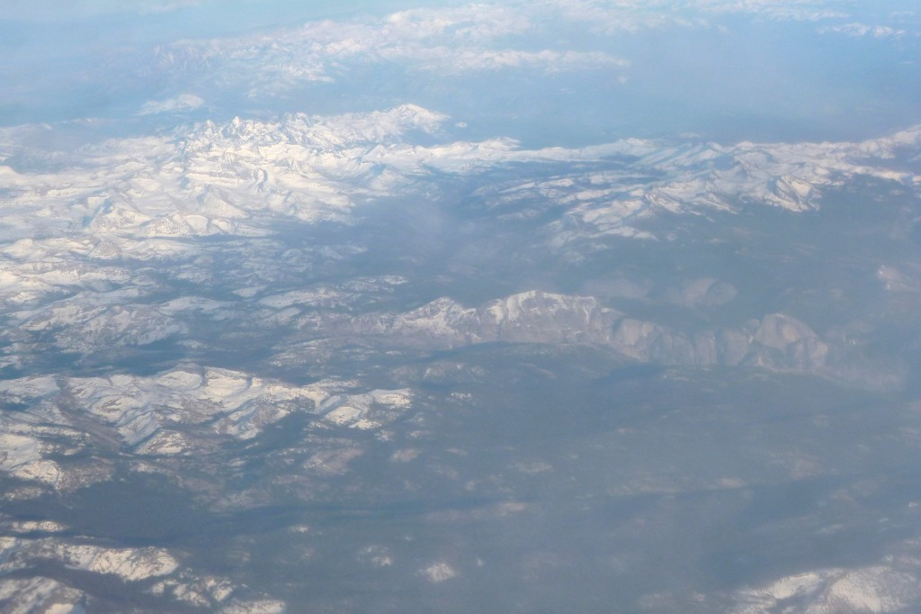 View of the Sierras and Yosemite enroute to the Bay Area. Can you find Half Dome?