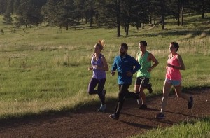 Doing some running with my Hind teammates at a photo shoot on 6/5.