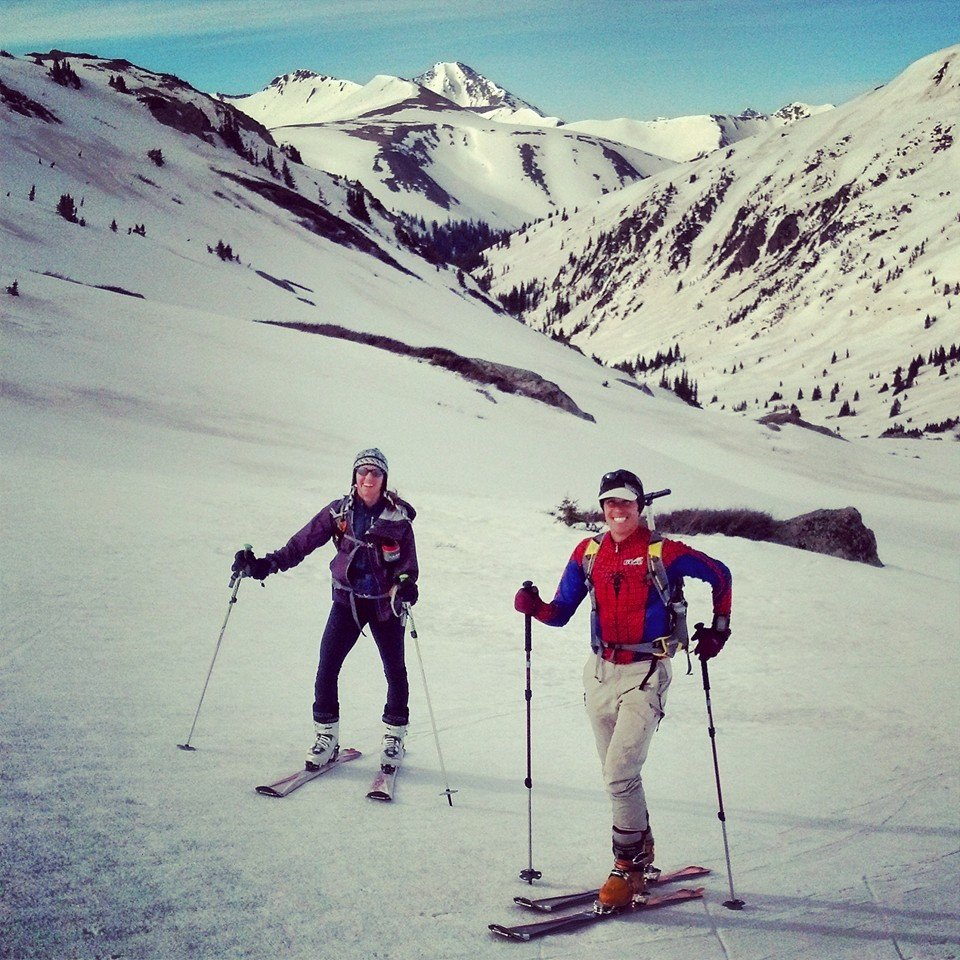 Skiing with Andy and Jessica near Independence Pass, 5/24/14. Photo by Andy.