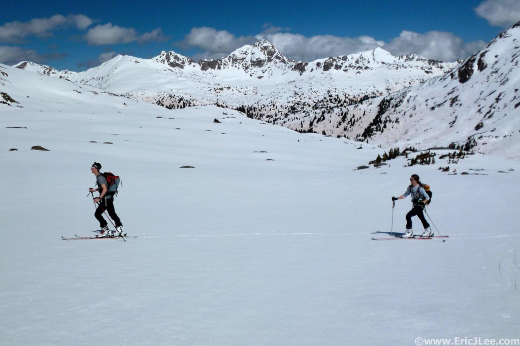 Early season ski tour with Andy & Jessica near Independence Pass. Cross training, 5/24/14.