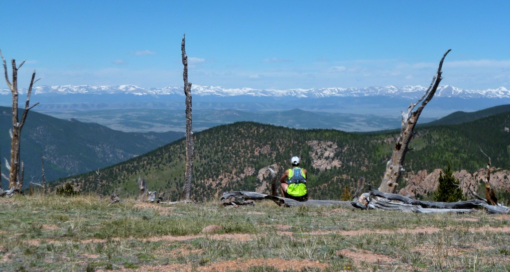 Relaxing during a 38.6mile/8500ft run in the Lost Creek Wilderness, 6/14/14.