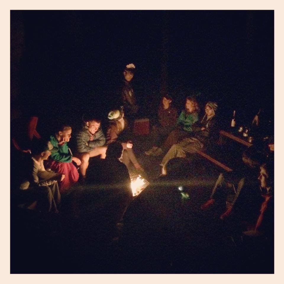 Rocky Mountain Runners relaxing the night before the Dirty Thirty 50k. Photo by Ryan Smith.