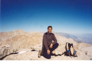 My first 14er summit, Mt Langley in CA, 10/25/2002