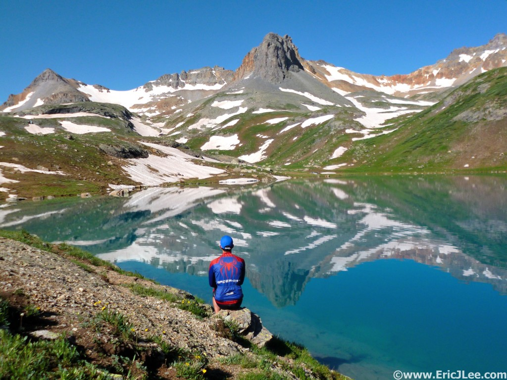 One last hike/jog before Hardrock, into Ice Lake Basin for some serene peace and solitude.