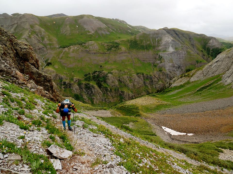What lovely scenery....When does this climb end? Dives Basin, Photo by Stephanie Lynn.