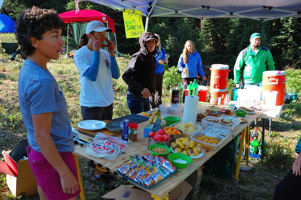 Hardrock 100 Aid Station fair, plus >20lbs of bacon and otter pops. Don't skip out, chow down!
