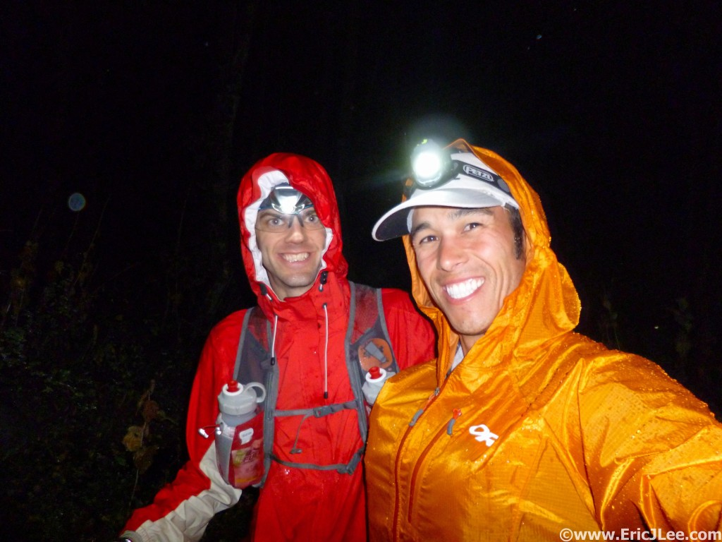 First rain storm of the night around midnight, all geared up and having fun.