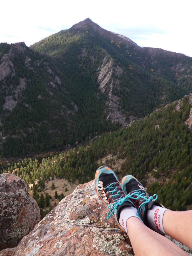 Forcing myself to slow down, climbing and scrambling amongst the Boulder Flatirons.