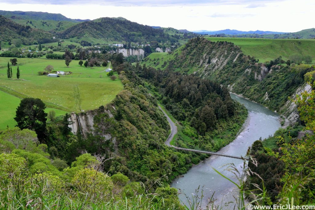 Green hills, rivers, waterfalls and sheep, that's New Zealand.