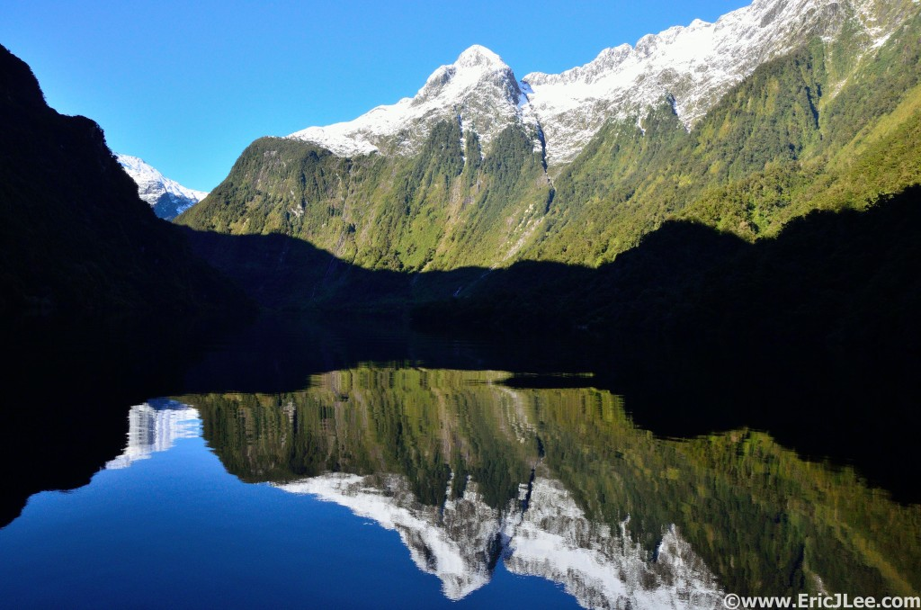 Calm water reflections in Doubtful Sound, what a morning.