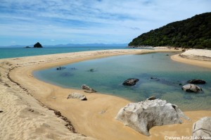 One of the many beautiful beaches along the Abel Tasman Track.