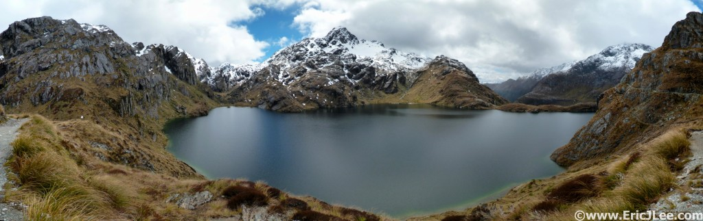 Harris Lake, near the saddle on the Routeburn Track. New Zealand 2014.