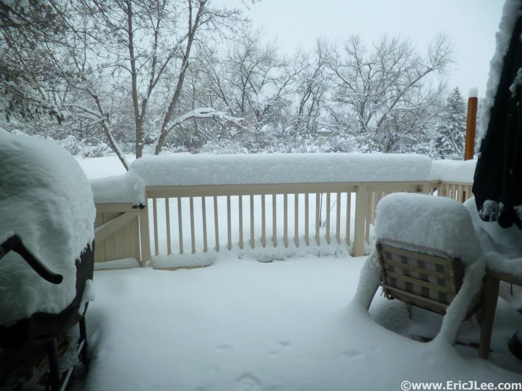"About half of the snow we received in late February 2015, it was the snowiest February on record in Boulder (>50"")"