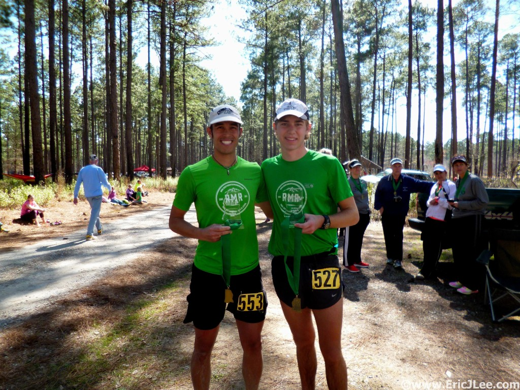 Jack and I after the run, Rocky Mountain Runners go 1-2 at the Mississippi50.