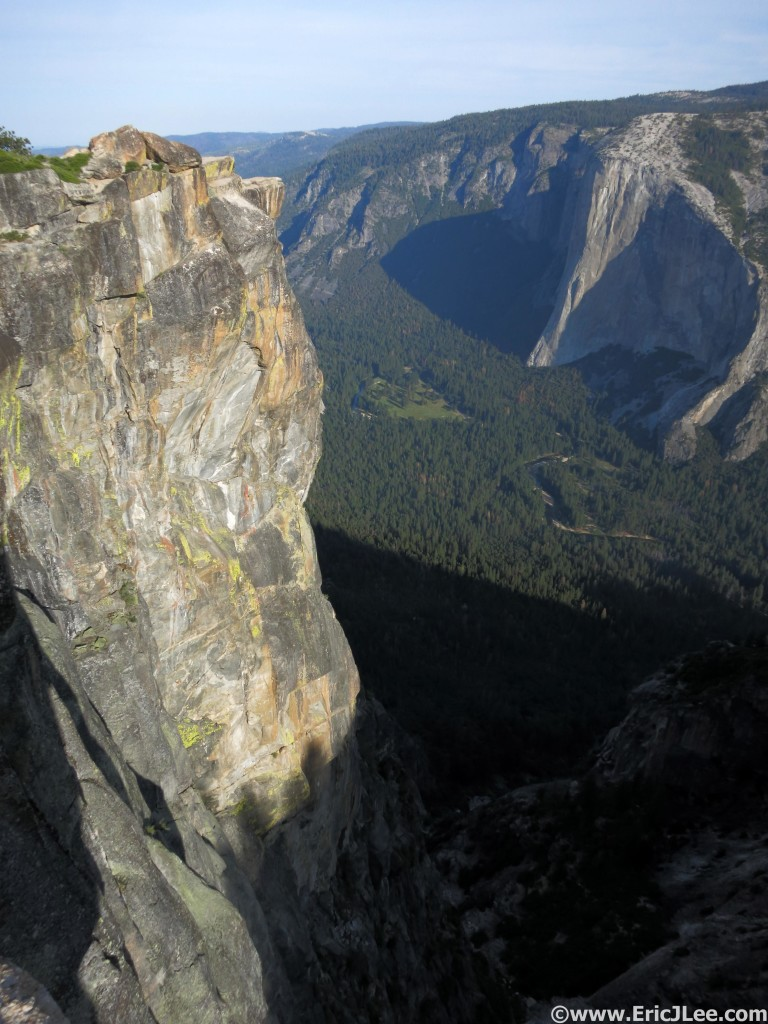 Looking down into the Valley and at the Nose of El Cap from Taft Point.