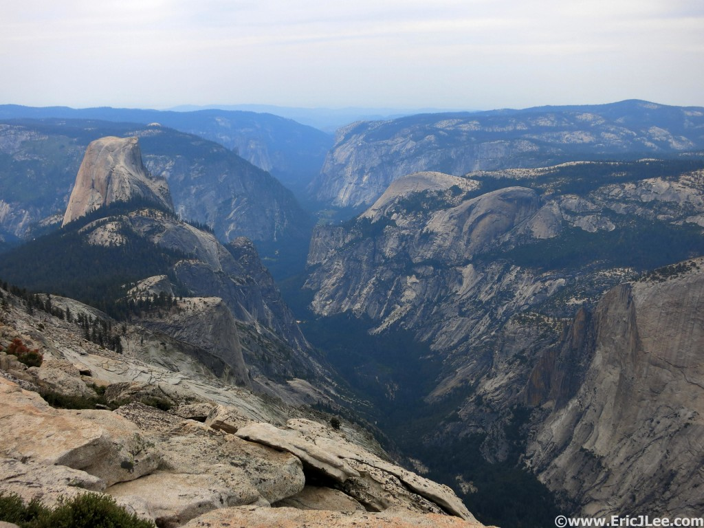 View down the Yosemite Valley from Cloudsrest.