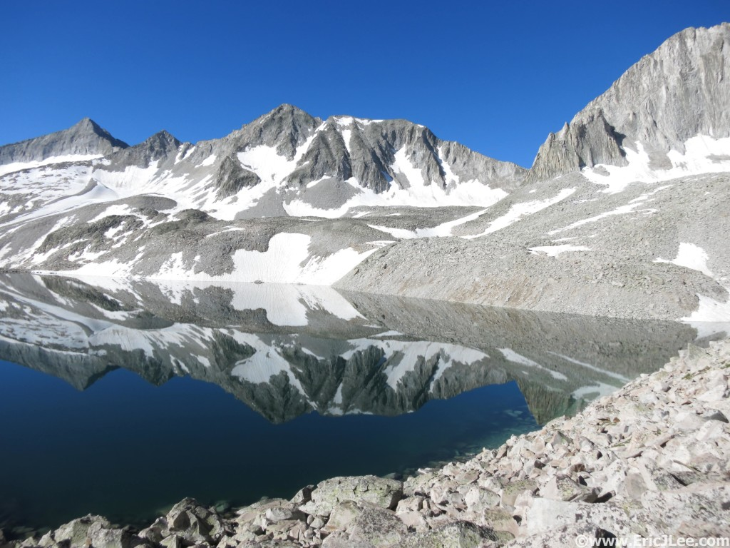 Traversing Pierre Lakes basin between Capitol and Snowmass during the Capitol-Snowmass-Bells linkup.