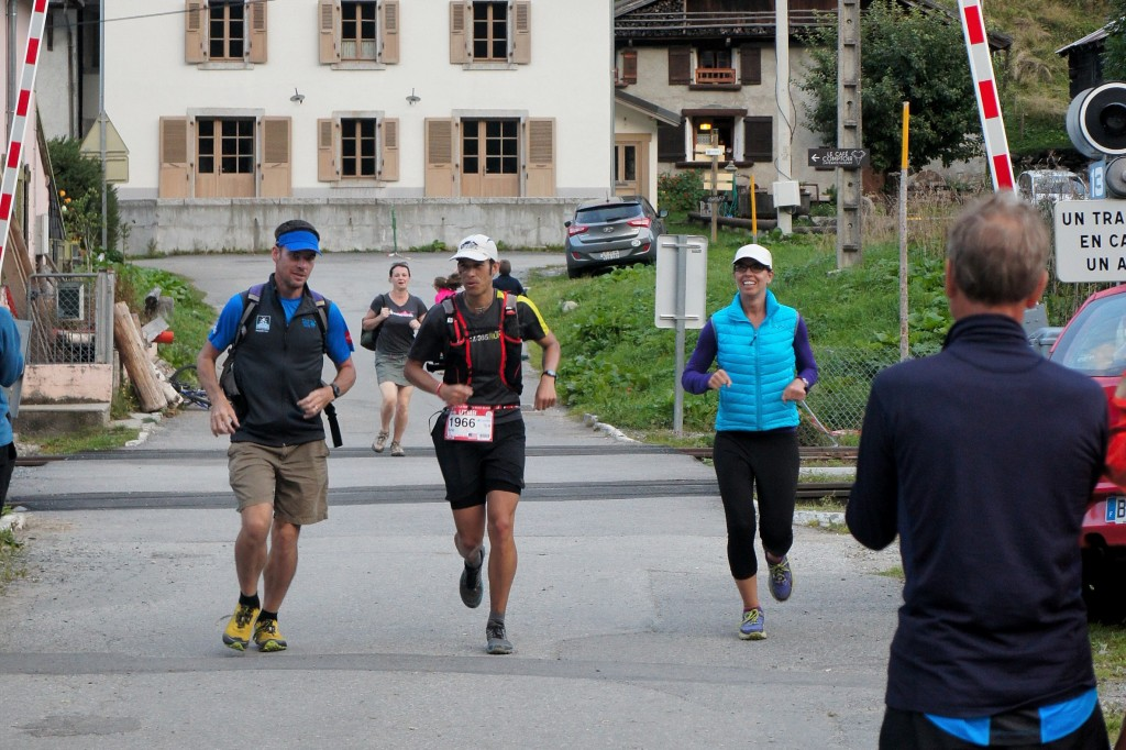 Chris and Kate running me into Vallorcine, its time to get this thing done. Photo by Kerwin Lee