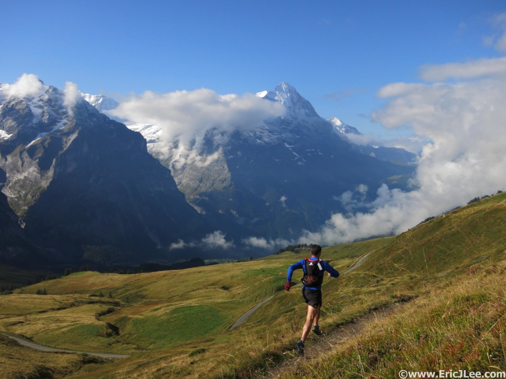 Six days after finishing UTMB my legs felt way too good not to get out and enjoy Gindelwald and views of the Eiger.
