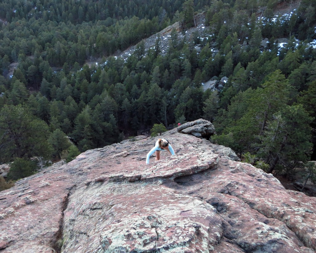 Back in Boulder post Gorge Waterfalls, time for scrambling, mountains and skiing, 4/1/16.