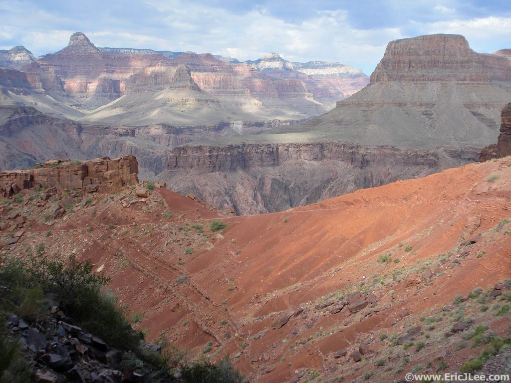 Looking down the South Kaibab trail across the Grand Canyon during a R2R2R run (Oct 2010).
