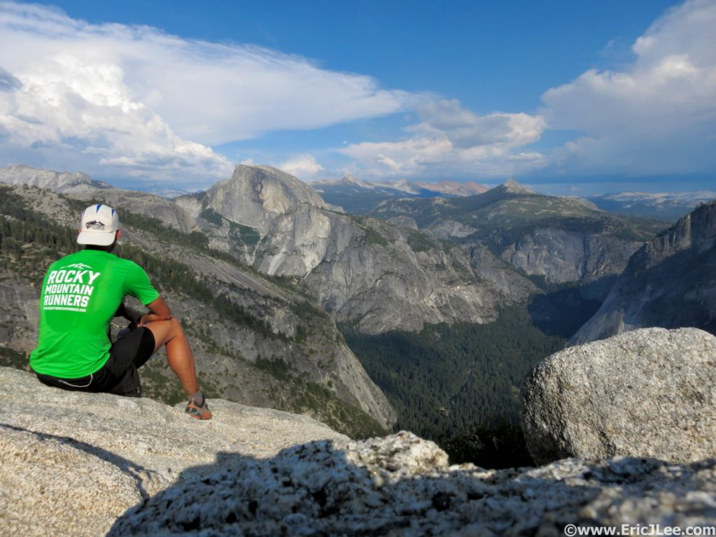 Pausing atop El Capitan to take in the Yosemite Valley during a 64mile circumnavigation of the Valley rim (July 2015).