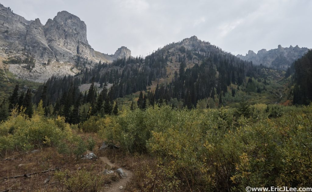 The Alaska Basin Trail as it climbs out of Death Canyon, 9/12/16.