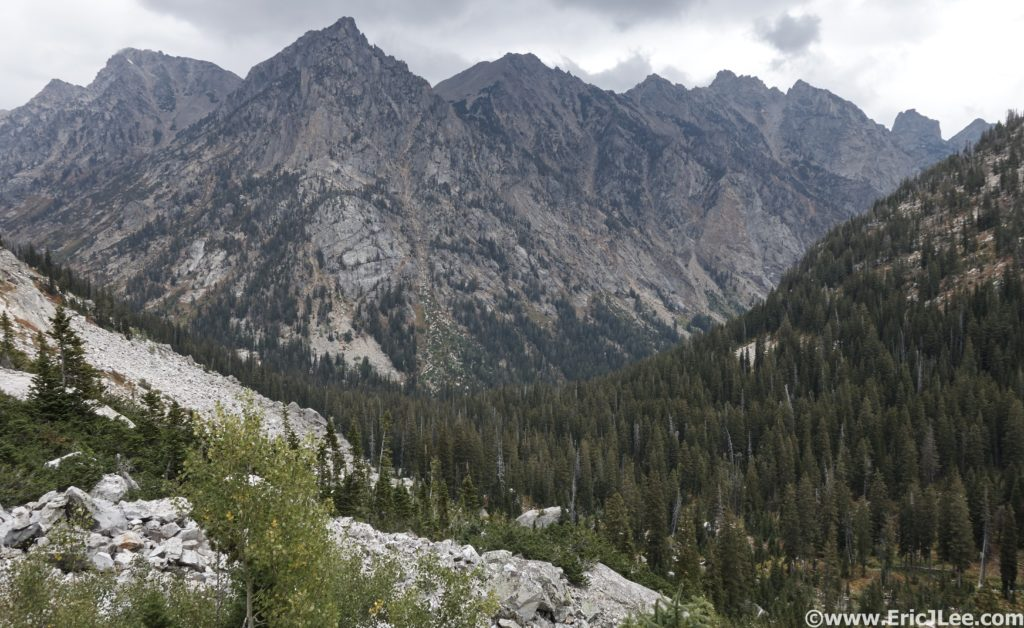 Upper Reaches of Cascade Canyon with towering peaks overhead, 9/12/16.