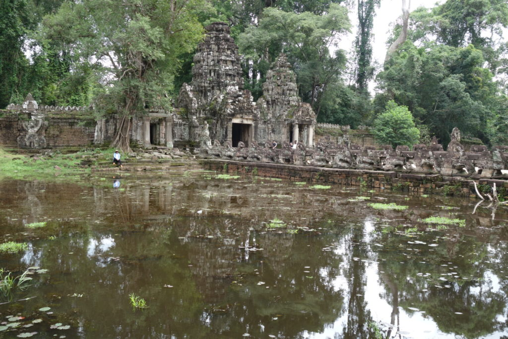 Temples of Ankor in Cambodia.