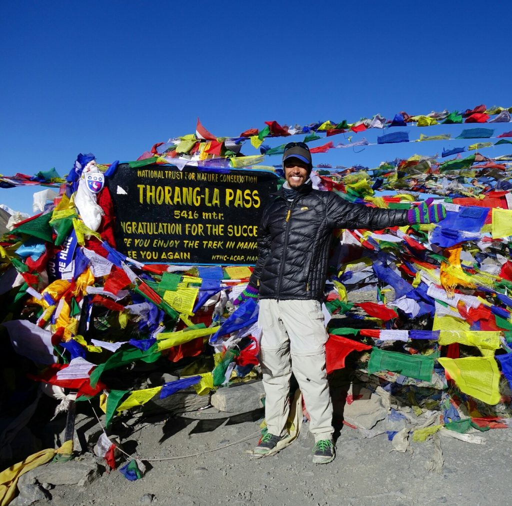 Thorang La Pass, new elevation high point for me along the Annapurna Circuit.