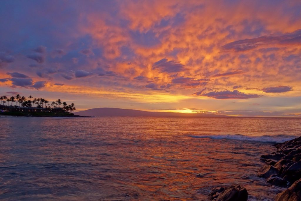 Epic sunsets from Napili beach on Maui