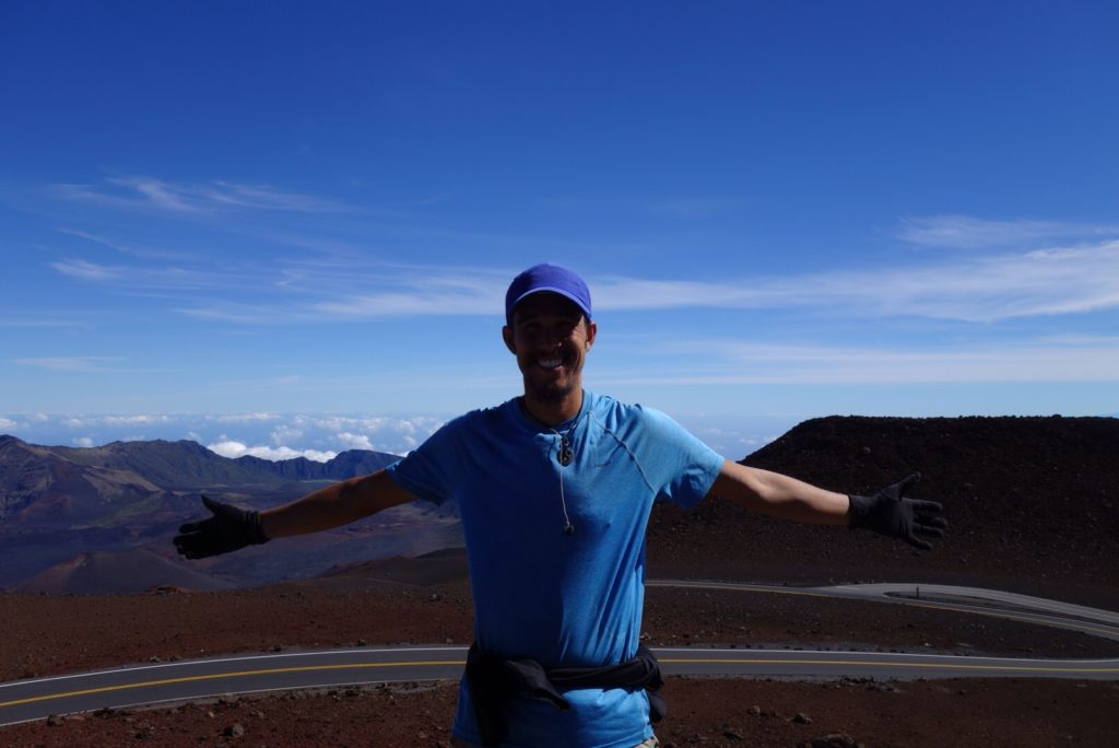 On the summit of Haleakala at 10023ft.
