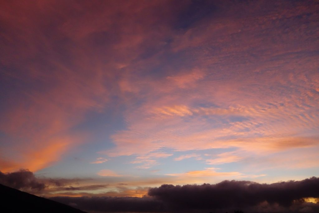 Sunrise from the Kaupo ranch trailhead