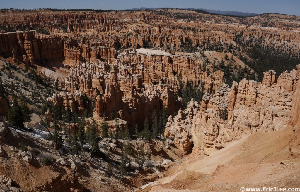Our first view of Hoodoo heaven between Bryce Point and Sunrise Point.