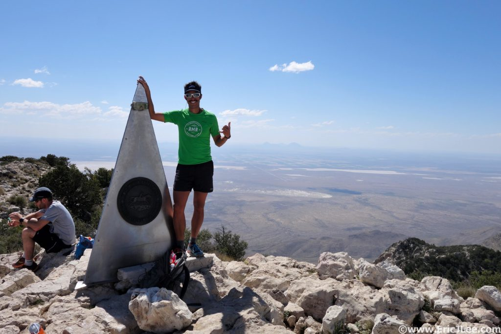 Summit of Guadalupe Peak, high point of Texas.