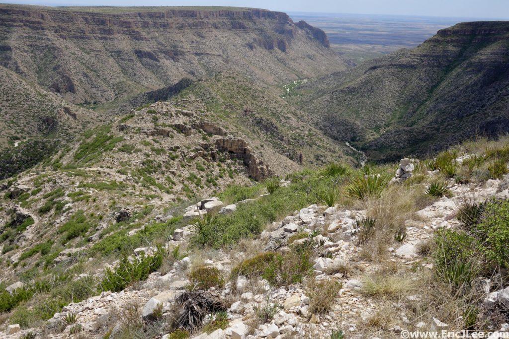 Descending back into Slaughter Canyon.