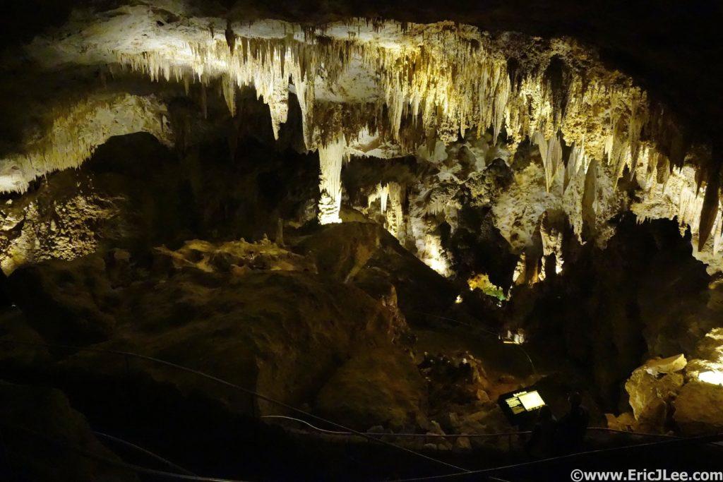 Entering the main Carlsbad Cavern.